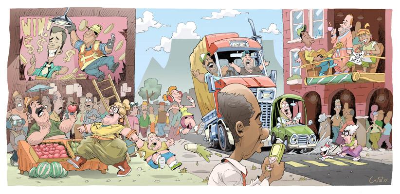 Cape Town street scene